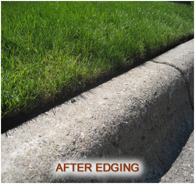 after edging