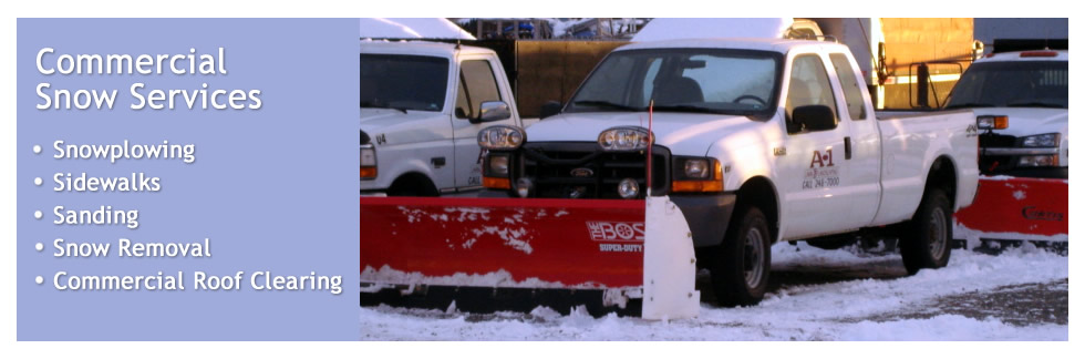 Commercial Snow Services, Plowing, Sidewalks, Sanding, Snow Removal and Roof Clearing